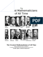 Greatest Mathematicians of All Times