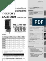 Manual-DAIKIN Oil Cooling Unit AKZJ8 Series__AKZJ8 Manual_English PIM00132A