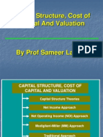Capital Structure,Cost of Capital & Valuation