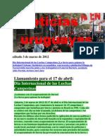 Noticias Uruguayas sábado 3 de marzo de 2012