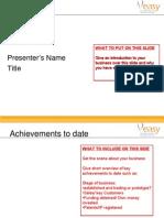EASY Investment Forum Template Entrepreneurs