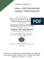 Étienne GARCIN. Le nouveau dictionnaire provençal-français