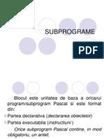 Subprograme Limbaj Pascal