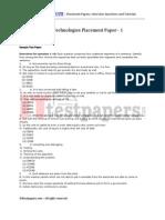 Aditi Technologies Placement Paper - 1
