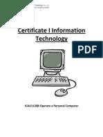 ICAU1128B Operate a Personal Computer