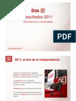 Resultados DIA 2011