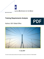 BRIDGE WP12 Training Requirement Analysis