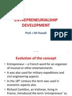 Entrepreneurial Ship Development