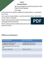 Web Tech Unit 3 Intro ( B.Sc. IT - sem 2)
