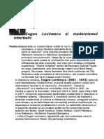 Eugen Lovinescu Si Modernismul Interbelic
