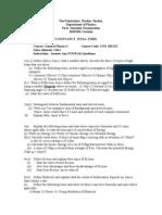 b and f exam 20011