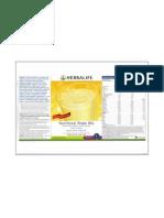 Informazione Nutrizionale Formula 1