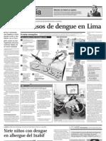 DETECTAN CASOS DE DENGUE EN LIMA
