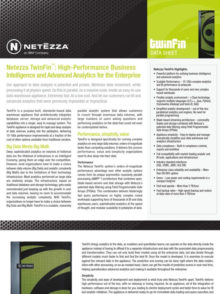 Ibm Netezza Twinfin Data Sheet Data Computer Architecture - Netezza architecture
