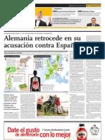 NOTICIA - ALEMANIA RETROCEDE EN SU ACUSACIÓN CONTRA ESPAÑA + NO DESCARTAN QUE LOS CELULARES PUEDAN CAUSAR CÁNCER CEREBRAL