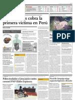 NOTICIA - EXTRAÑO VIRUS COBRA LA PRIMERA VÍCTIMA EN PERÚ