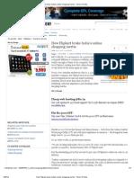 How Flipkart Broke India's Online Shopping Inertia - Times of India