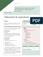 FARMACOTECNIA - ELABORACION DE SUSPENSIONES