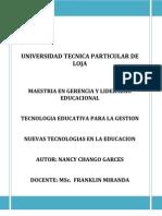 Nuevas Tecnologias en La Educación
