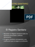 Requisitos para obtención de Registro Sanitario