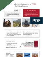 Fact Sheet - Las Casitas del Colca, Arequipa Peru