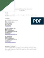 Terrorism Review Protocol