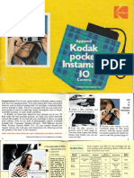 Kodak instamatic Pocket 10 Camera Manual