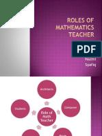 Roles of Mathematics Teacher