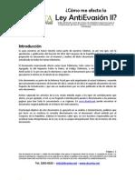 Análisis y Resumen de Ley AntiEvasión II