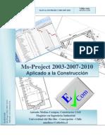 Portada e Indice Ms-Project Aplicado a la Construcción