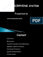 Morphing pdf voice