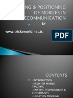 Tracking & Positioning of Mobiles in Telecommunication