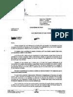 CEDH lettre président 5ème section 1er mars 2012