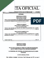 Codigos de Zonas Residenciales Resolucion 169-2004 de 8 Oct 2004