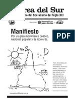 Marea Del Sur - Manifiesto
