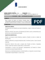 PLANO DE ENSINO DA DISCIPLINA DE FILOSOFIA 2012/01 FASC