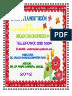 Datos Del Cuaderno Pedagogico 2012