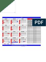 Excel Calendar 2009
