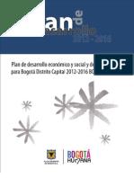 Plan de Desarrollo Bogotá Humana 2012-2016 Final