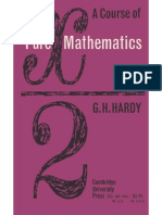 A Course in Pure Mathematics Hardy