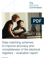 Data Matching Pilot Evaluation