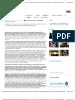 Casa Rosada. Presidencia de la Nación Argentina. Apertura del 130º periodo de sesiones ordinarias del Congreso Nacional