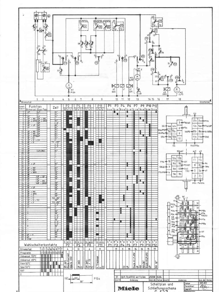 Miele G527 Dishwasher Wiring Diagram