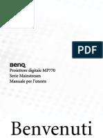 Benq Manual Mp770 It