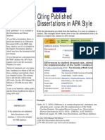 Citing Dissertations in Apa Format