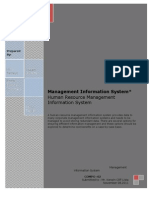 Human Resource Management Information System Report