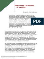 Marx, Habermass y Fraser, Las Tensiones de Lo Publico