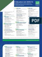 CPA Educators List 2009e