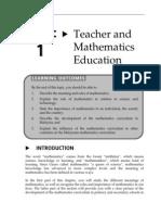 Topic 1 Teacher and Mathematics Education