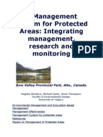 A Management System for Protected Areas